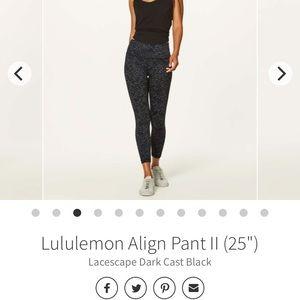 """Lululemon Align 25"""" Lacescape Dark Cast"""